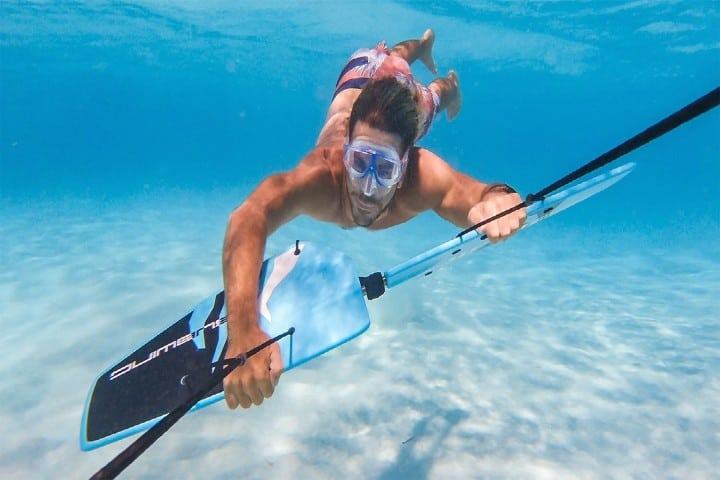 Subwing aletas para volar en el agua. Foto: subwing.com