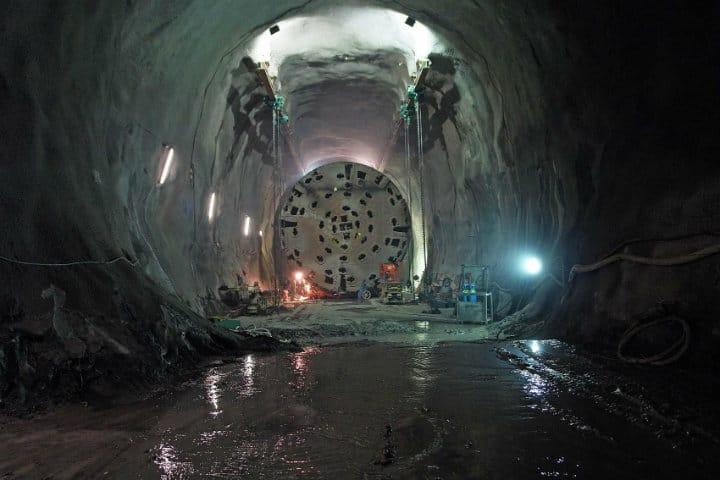 El nuevo túnel más largo del mundo. Foto Archivo