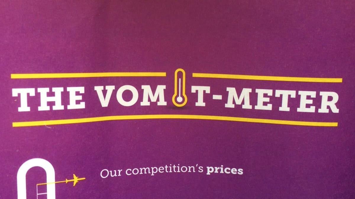 El vomit meter. Foto: twitter.com