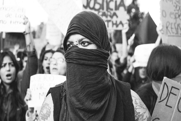 Marcha feminista en Ecuador. Foto: Susan Salazar Mosquera