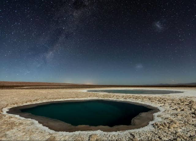 Lagunas Baltinache (desierto de Atacama) por Víctor Lima