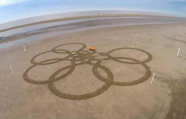 Que linda flor hiso BeachBot. Foto: Archivo.
