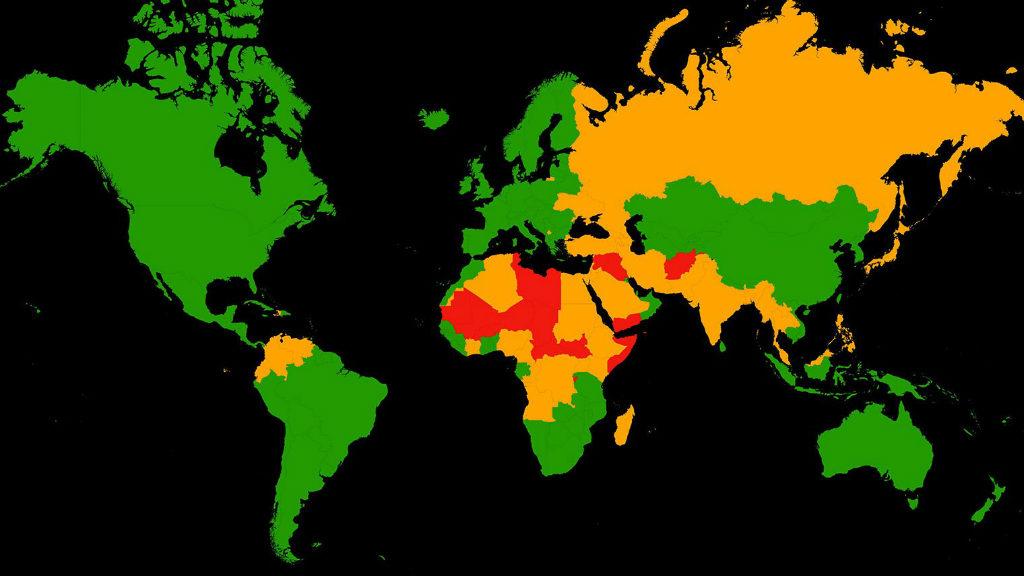 Y Con Ustedes El Mapa Con Los Pa 237 Ses M 225 S Peligrosos Para