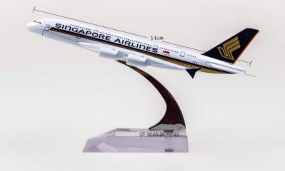 Detallados aviones a escala, Singapore. Foto: BBC