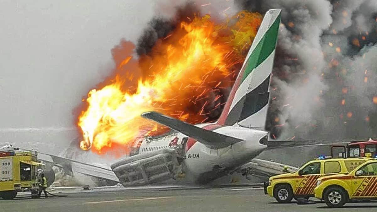 Accidente del avión. Foto: reportur,com