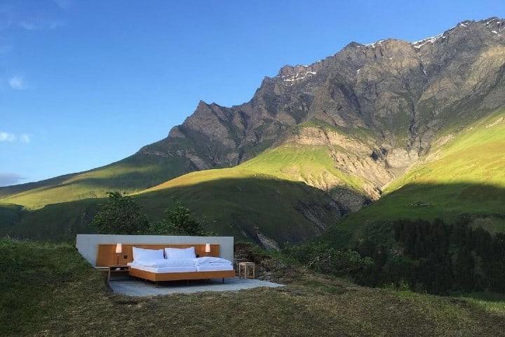 El Hotel Null Stern en Suiza. Foto: unusualplaces.org