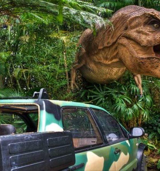 Mundo de Jurassic Park en Universal Studios. Foto Viajobien.