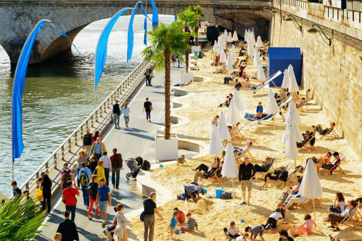 Playas de París. Imagen: Renfe