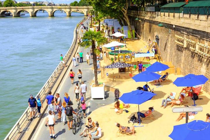 Playas de París. Imagen: Viaje