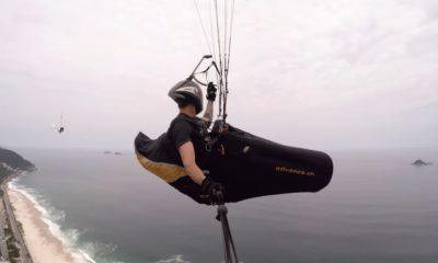 Vuelo en parapente, un deporte de Río de Janeiro. Parapente portada. Imagen. GoPro
