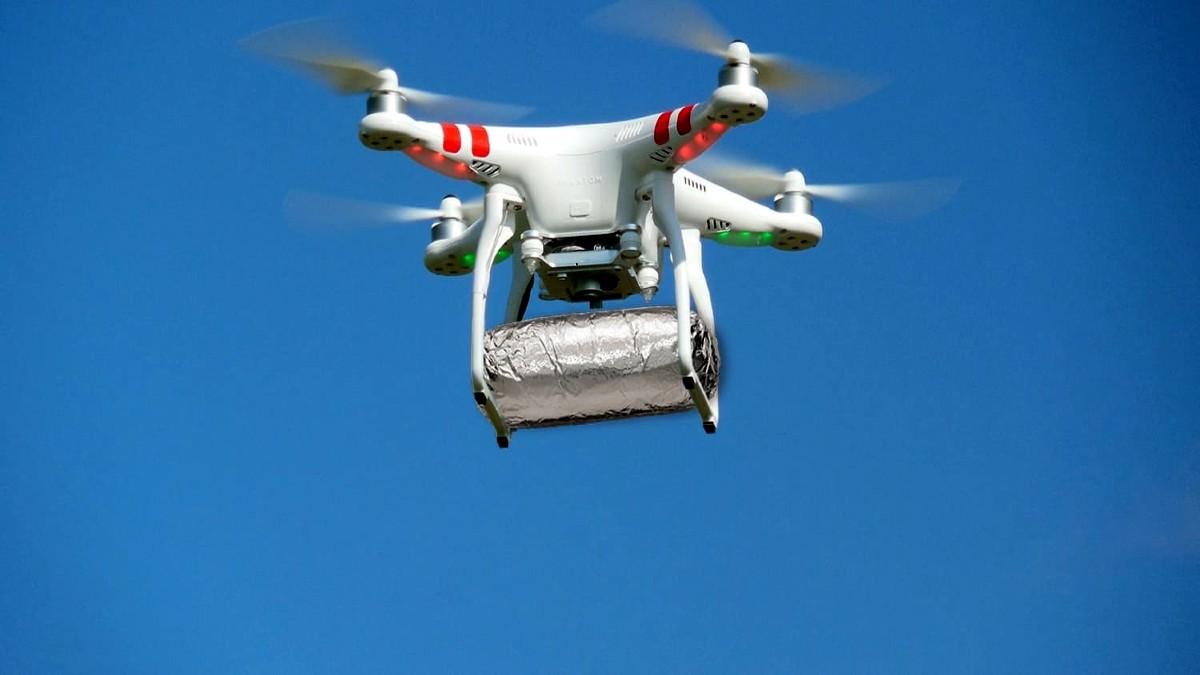 Burritos a domicilio con drones. Foto Archivo.
