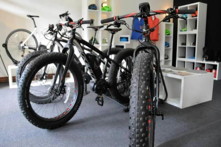 Las llantas del Fatbike son más gruesas que las bicicletas normales. Foto Archivo.