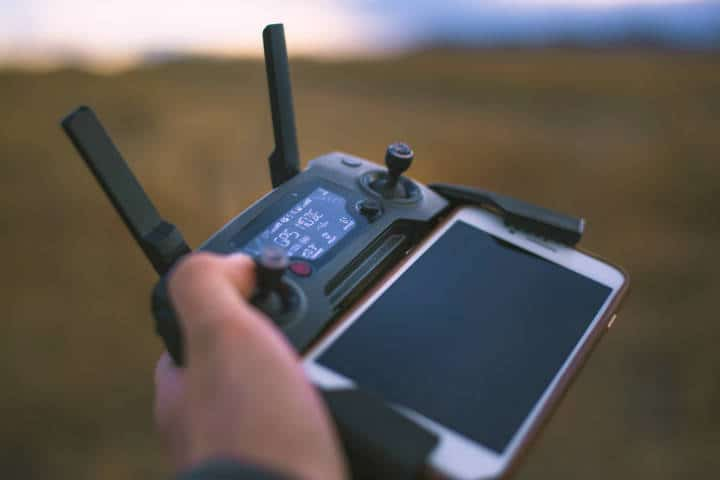 Piloto de drones. Foto: Shane Smith
