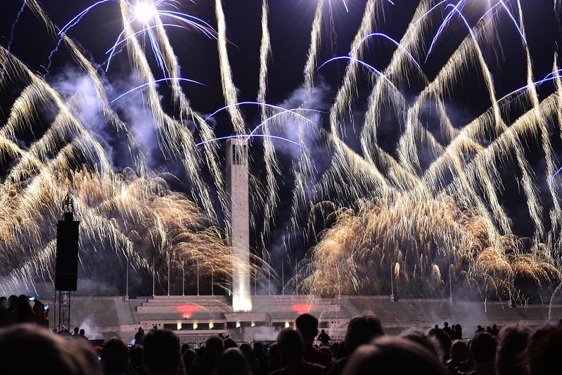 competencia internacional de fuegos artificiales en Berlín