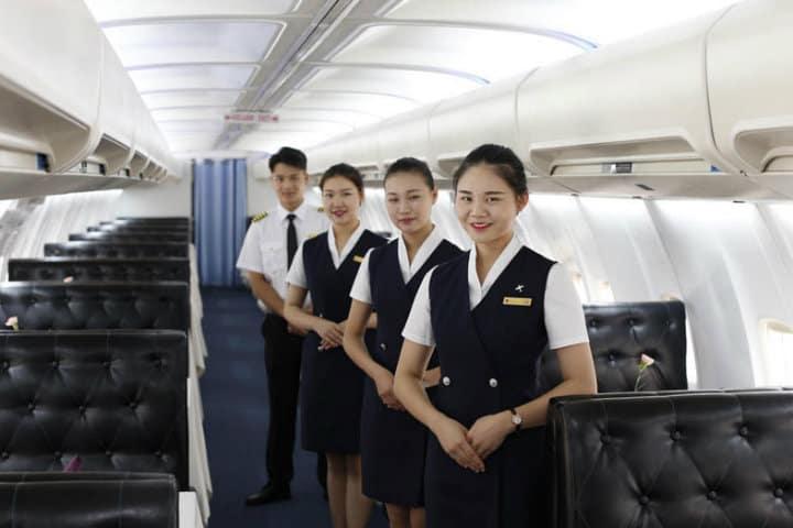 restaurante dentro de un avión en china