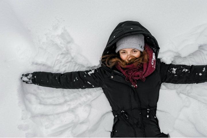 Angel de nieve. Foto: Vlad-Chețan