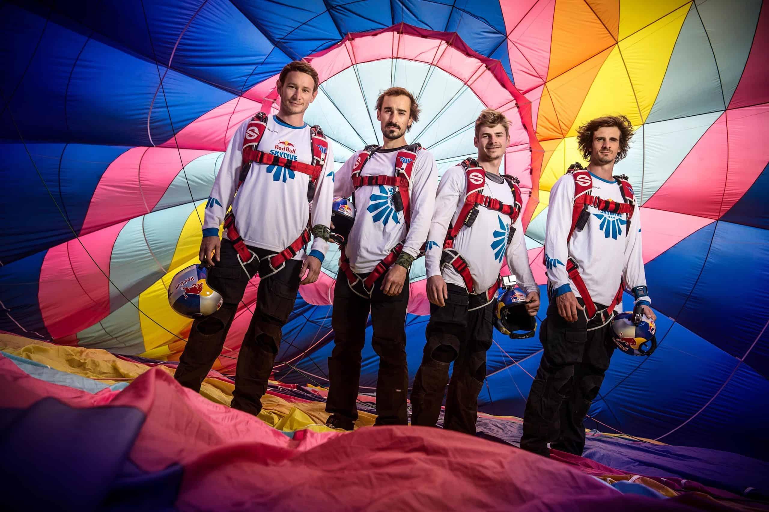 Este fue el equipo que probó el complio más largo del mundo Foto Redbull