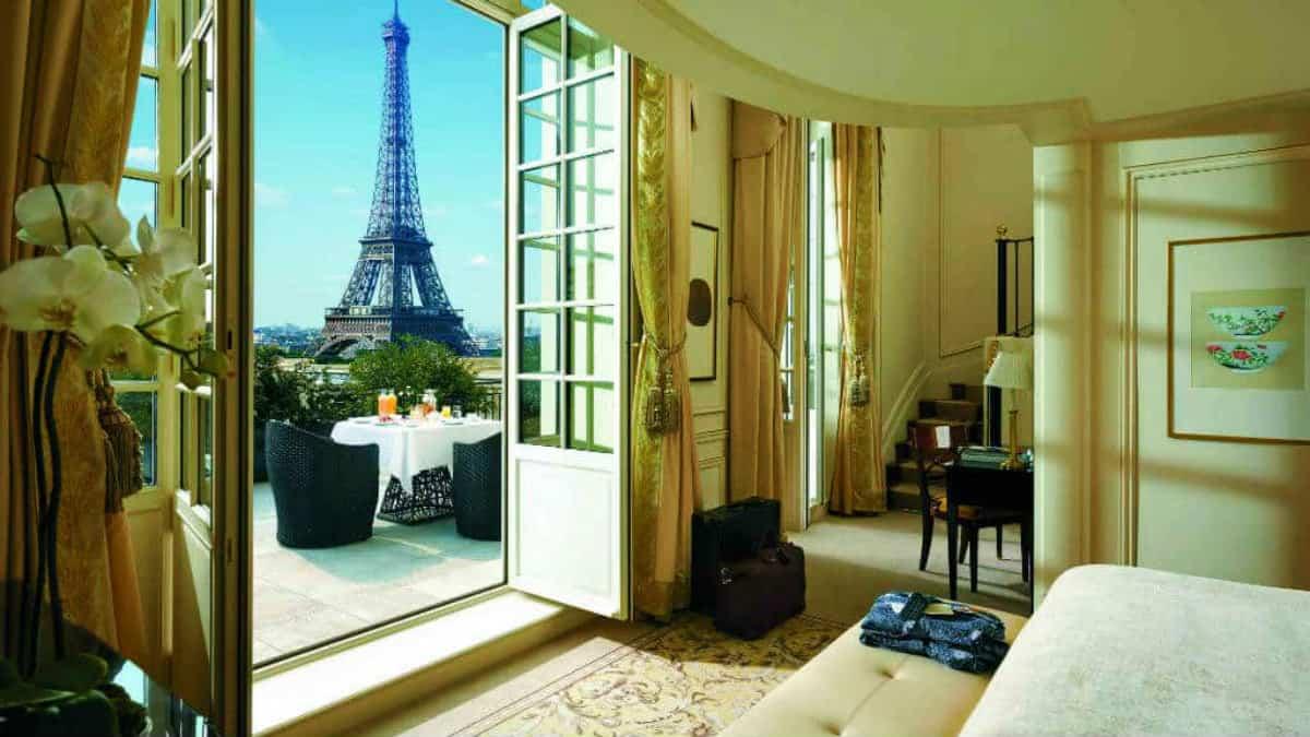 Hoteles con vista a la Torre Eiffel Foto Archivo