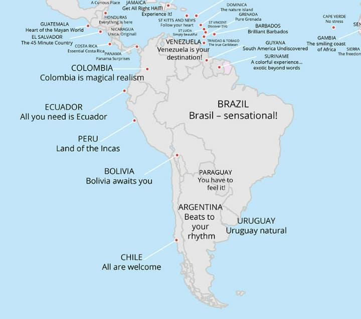 Slogans Sudamérica. Foto: Archivo
