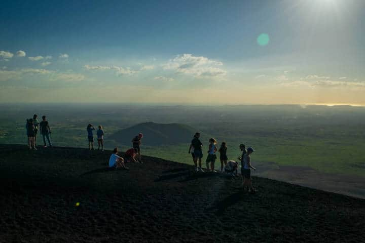 volcano boarding.imagen: Nicaragua.Archivo