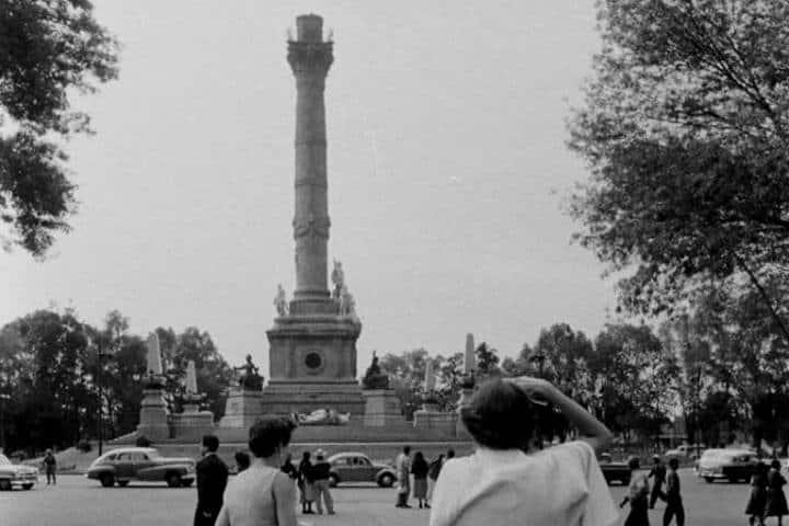 Angel de la Independencia 1957 Foto Joe Scherschel Life Magazine