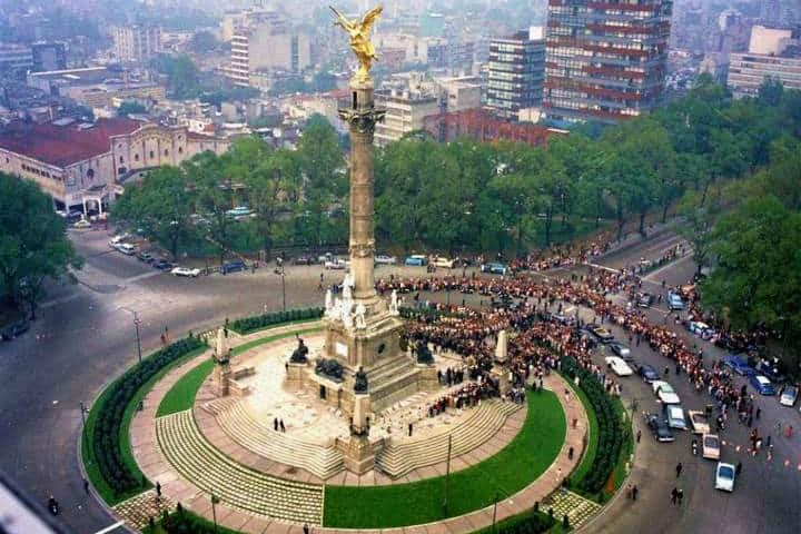 Angel de la Independencia 1962. Imagen: Cecil Stoughton.