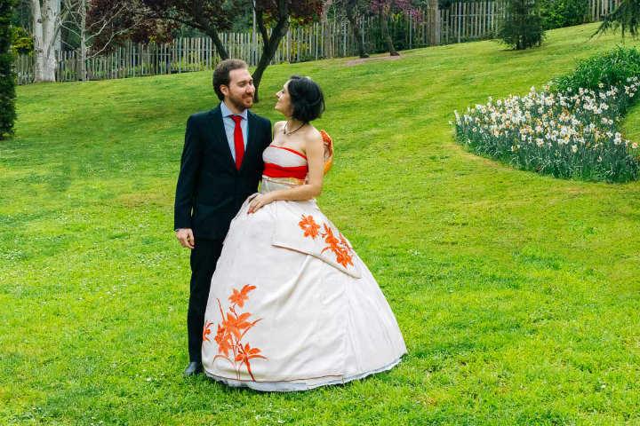 De kimonos a vestidos de novia en Japón.Foto.Minnna no Kimono.1
