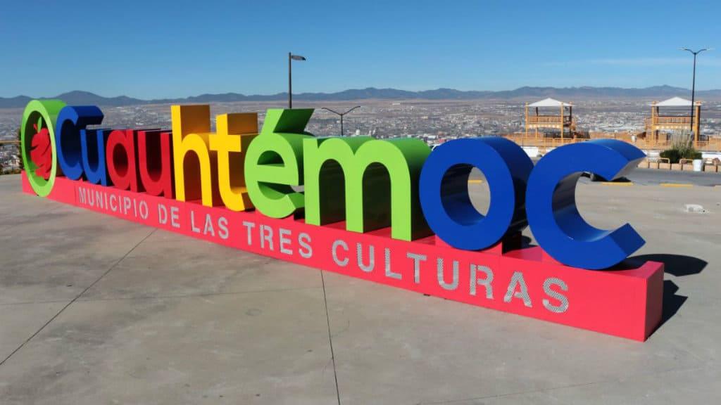 Letras monumentales Cuauhtémoc, Chihuahua