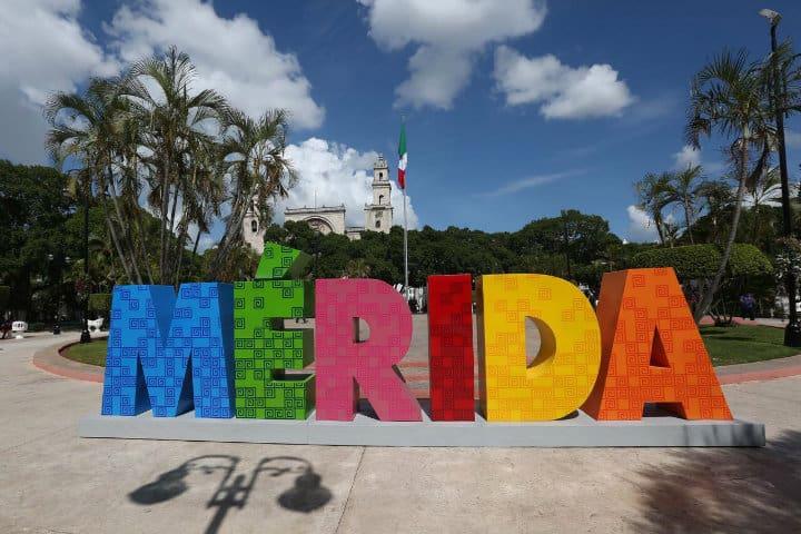 Letras monumentales, Mérida, Yucatán
