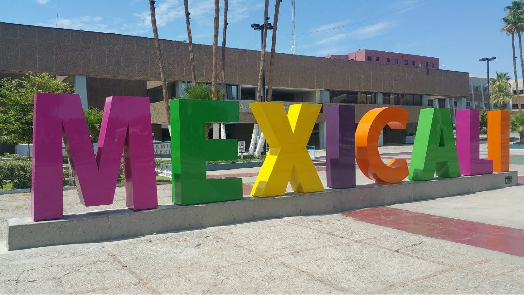 Letras monumentales, Mexicali, Baja California
