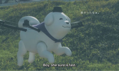 Portada.Dron en foma de perro en Japón.Foto.iTech Post