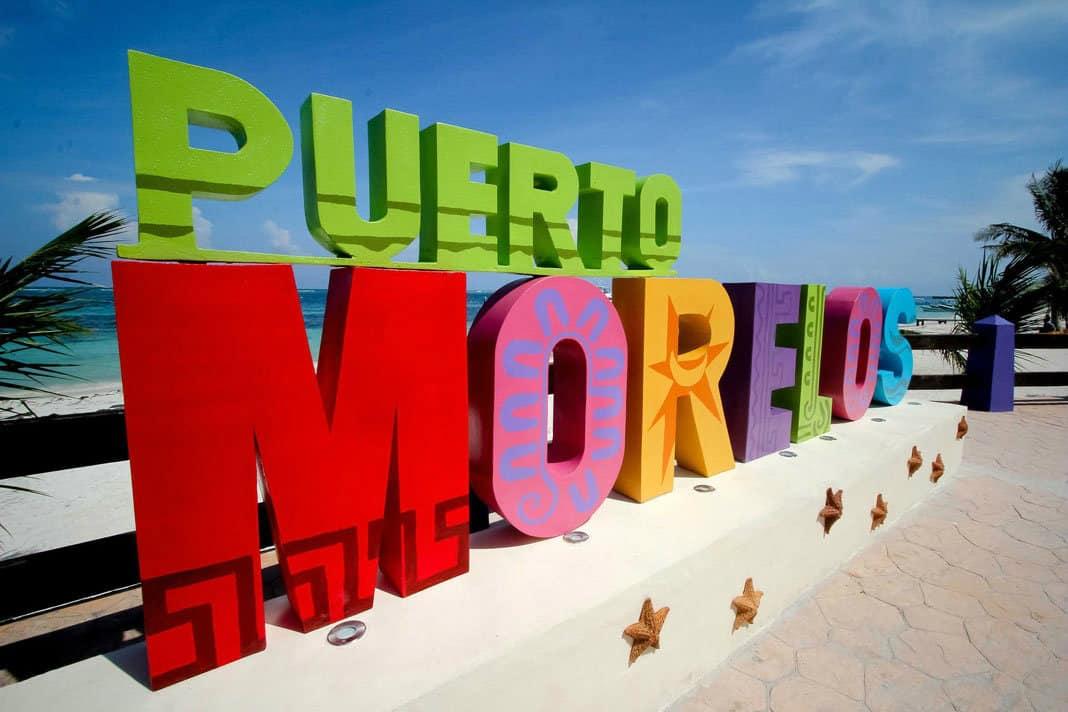 Letras monumentales, Puerto Morelos, Quintana Roo