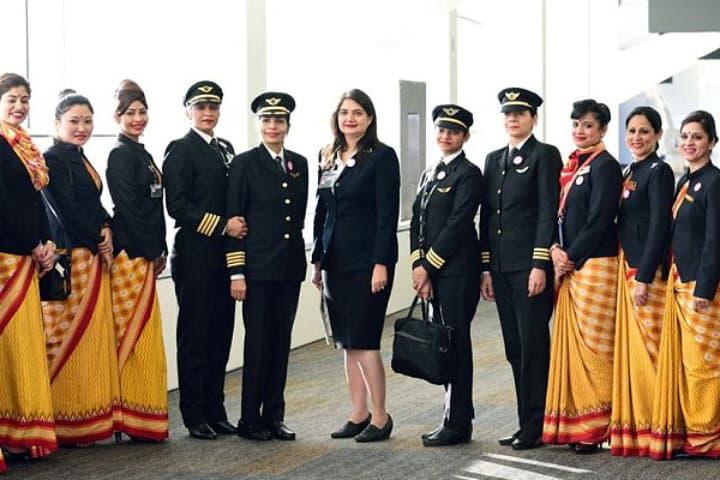 air india woemen flight