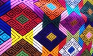 Baja California Sur - Textil con detalles prehispánicos