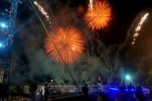 Fiestas de Acapulco y fuegos artificiales