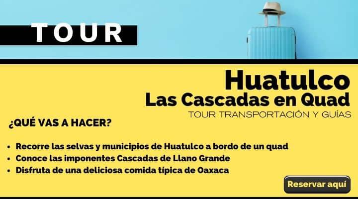Tour desde Huatulco, día completo a las Cascadas Quad. Arte El Souvenir