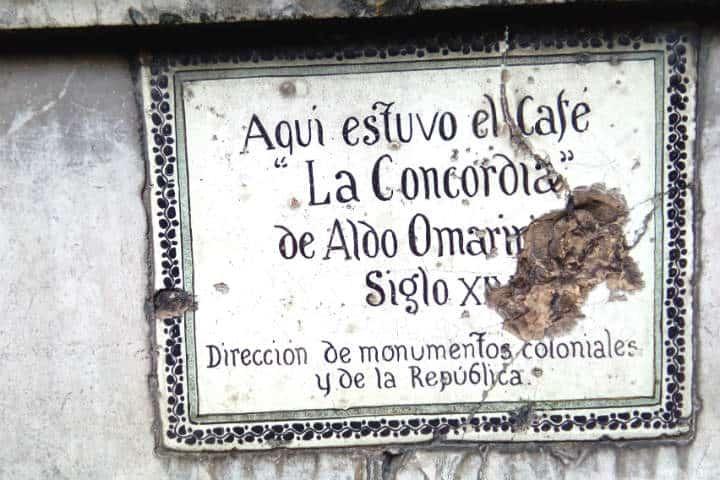 calle madero 6 PLACA DE EDIFICIO LA MEXICANA