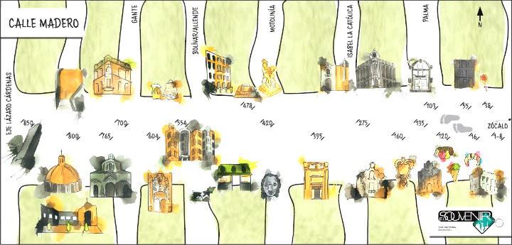 Mapa calle madero, CDMX