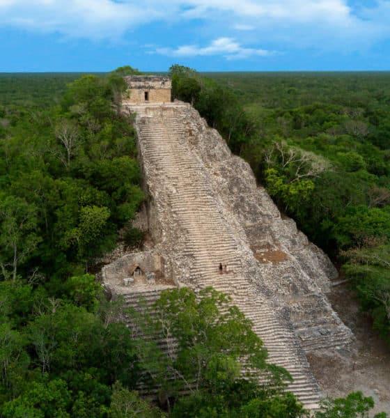 Portada.Ciudad maya Coba en Quintana Roo.Foto.The Mexican Caribbean