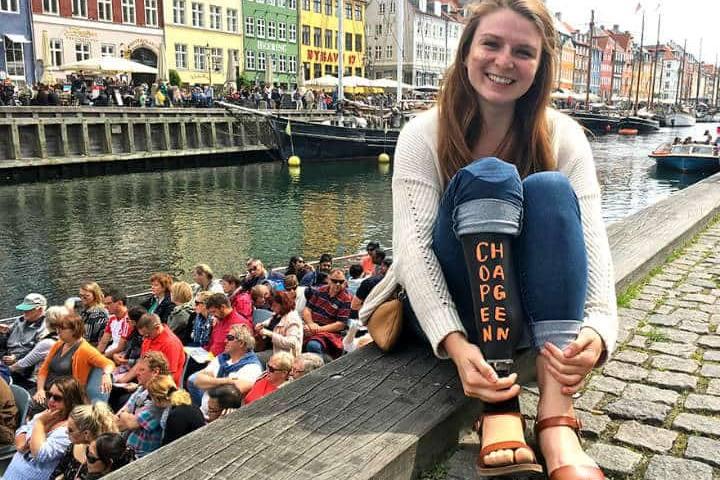 Su viaje a Copenhague. Foto: Archivo