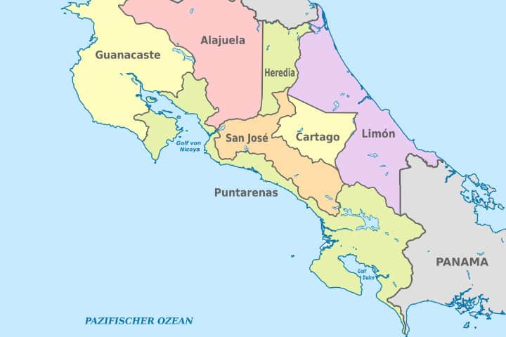 Mapa. Imagen: Costa Rica. Archivo