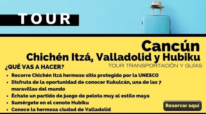 Tour desde Cancún, Chichén Itzá, Valladolid y cenote Hubiku. Arte El Souvenir