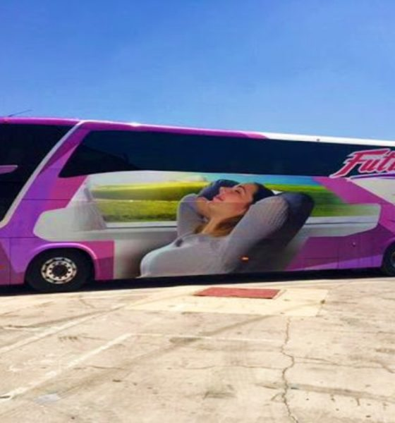 Autobuses Futura de dos pisos. Foto Pinterest.