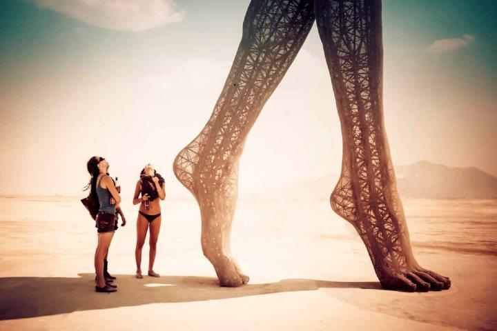 Burning Man en Nevada. Foto Archivo.