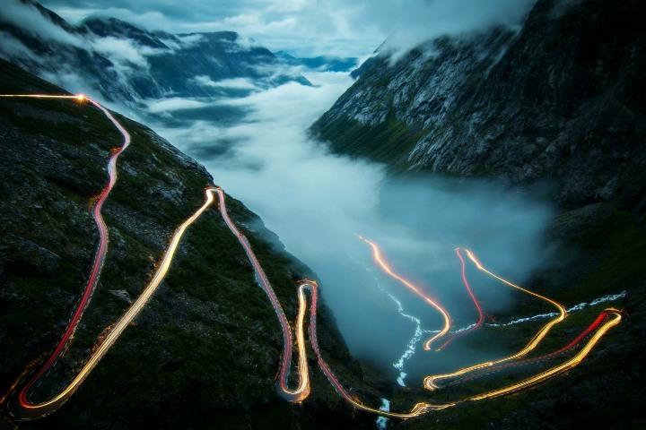 Curvas nocturnas. Foto: National Geographic