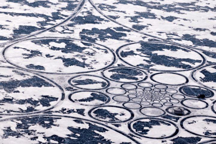 Formaciones en el hielo Foto Archivo.