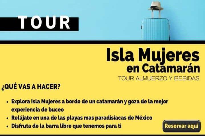 Tour Isla Mujeres día completo en catamarán. Foto Archivo