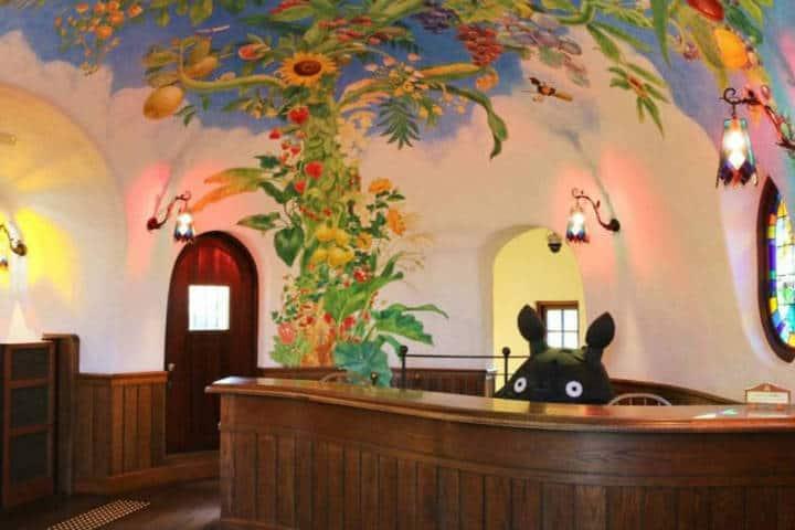 Recepción del museo. Imagen: Museo de Ghibli. Archivo