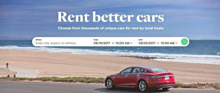 Pagina Oficial para rente de automóviles. Imagen: Turo. Archivo