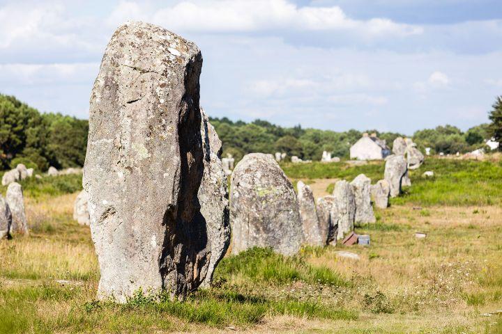 Les menhirs Foto: Megalitos de Carnac